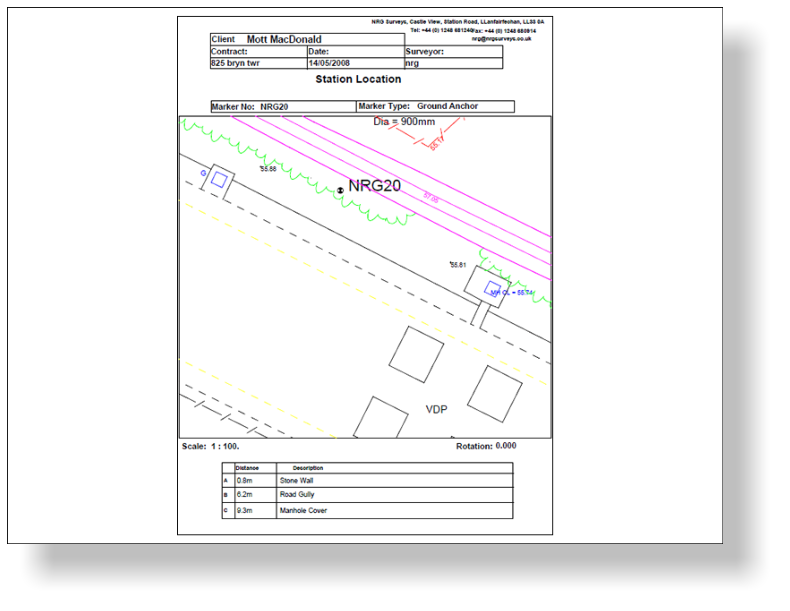Topographic Survey - A55 Bryn Twr Junction - NRG Engineering